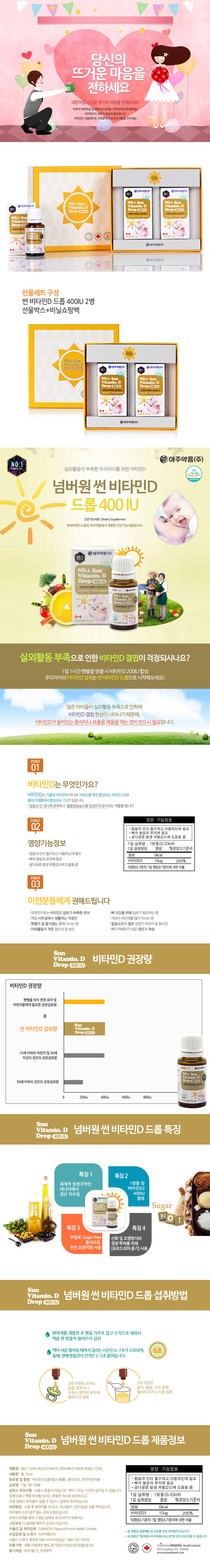 [ Leau Claire ] No.1 Sun Vitamin D Drop 400IU Gift set